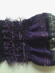 Stretchy yarns make ruffles